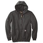 Carhartt Men's Midweight Hooded Full Zip Sweatshirt - Carbon Heather
