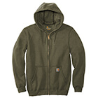 Carhartt Men's Midweight Hooded Full Zip Sweatshirt - Moss
