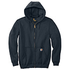 Carhartt Men's Midweight Hooded Full Zip Sweatshirt - New Navy